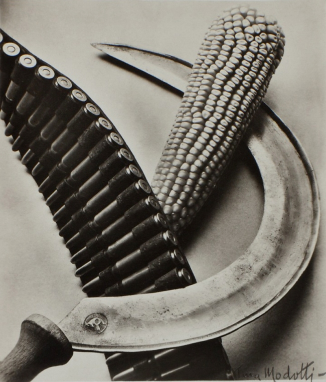 Tina Modotti. 'Bandelier, Corn and Sickle' 1927