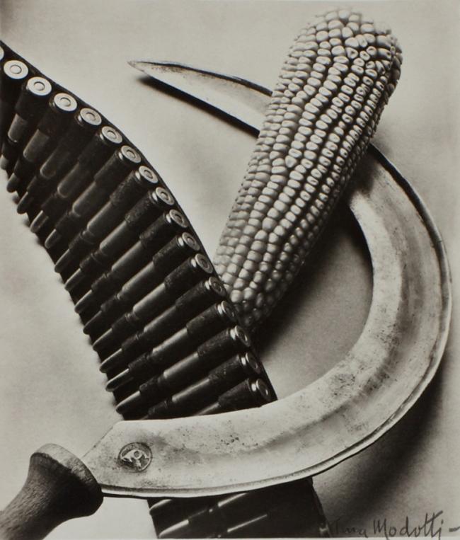 Tina Modotti. 'Bandelier, Corn and Sickle' 1927