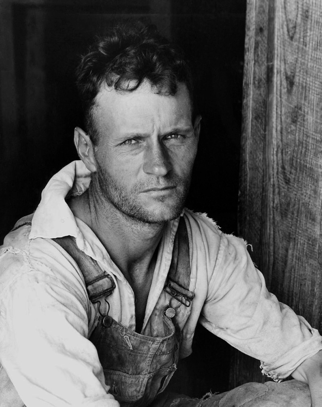 Walker Evans. 'Floyde Burroughs, a cotton sharecropper, Hale County, Alabama' 1936