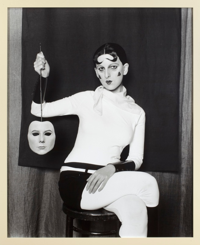 Gillian Wearing. 'Me as Cahun holding a mask of my face' 2012