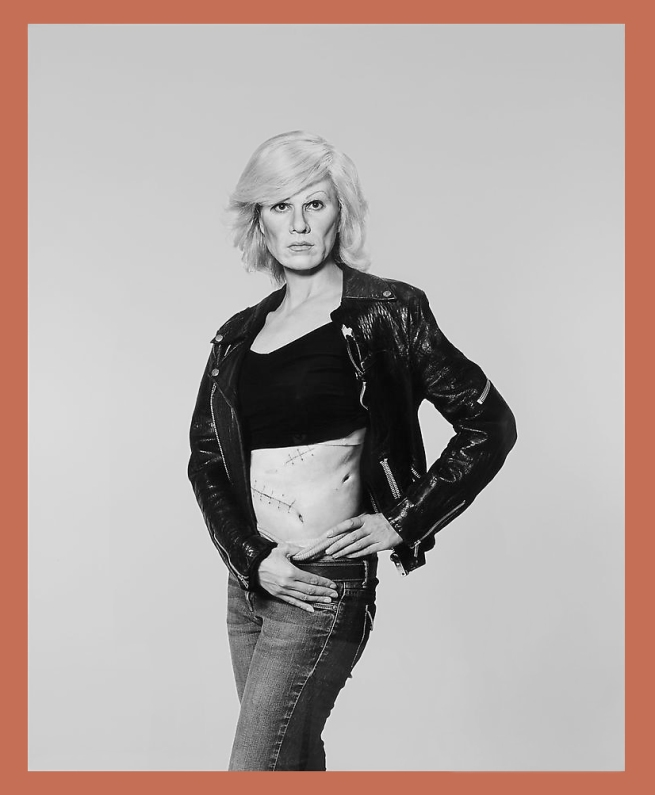 Gillian Wearing. 'Me as Warhol in Drag with Scar' 2010