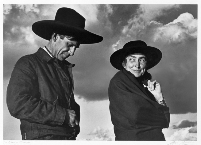 Ansel Adams (American, 1902-1984) 'Georgia O'Keeffe and Orville Cox' 1937