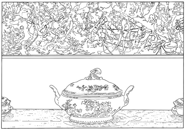 Louise Lawler. 'Pollock and Tureen (traced)' 1984/2013