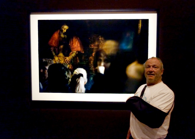 Dr Marcus Bunyan in front of Bill Henson's 'Untitled' 2009/10