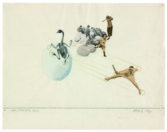 László Moholy-Nagy (1895-1946) 'Once a Chicken, Always a Chicken' 1925