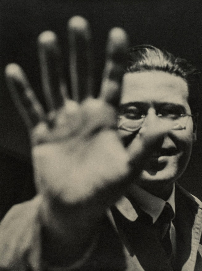 László Moholy-Nagy (1895-1946) 'Photograph (Self-Portrait with Hand)' 1925/29, printed 1940/49