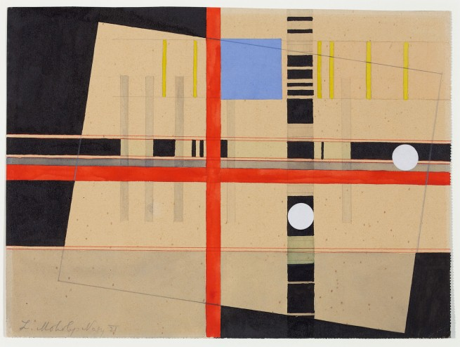 László Moholy-Nagy (1895-1946) 'Red Cross and White Balls' 1921