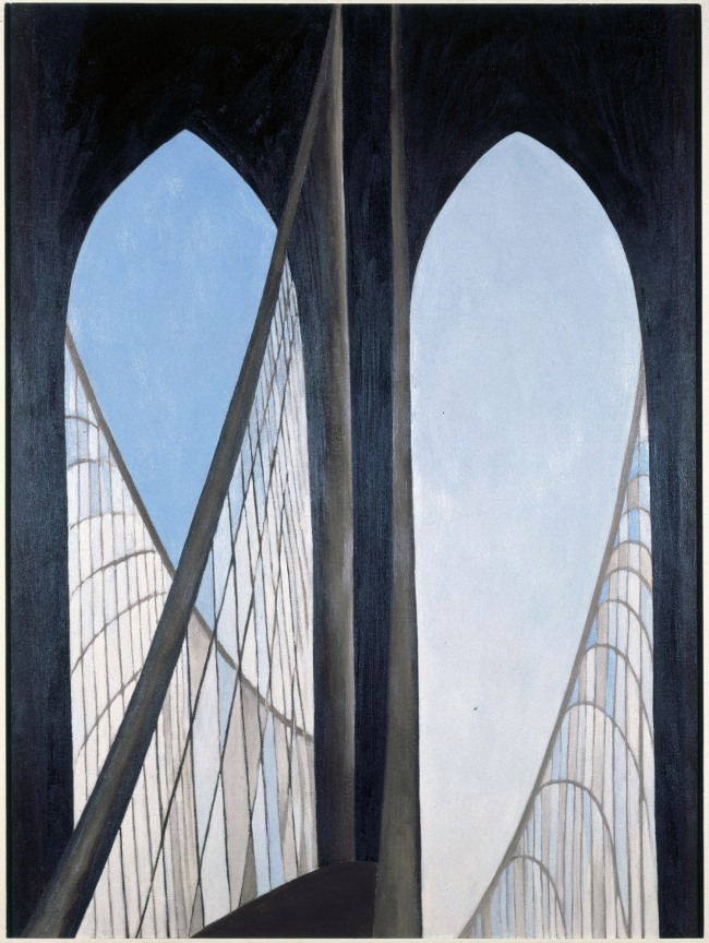 Georgia O'Keeffe (American, 1887-1986) 'Brooklyn Bridge' 1949