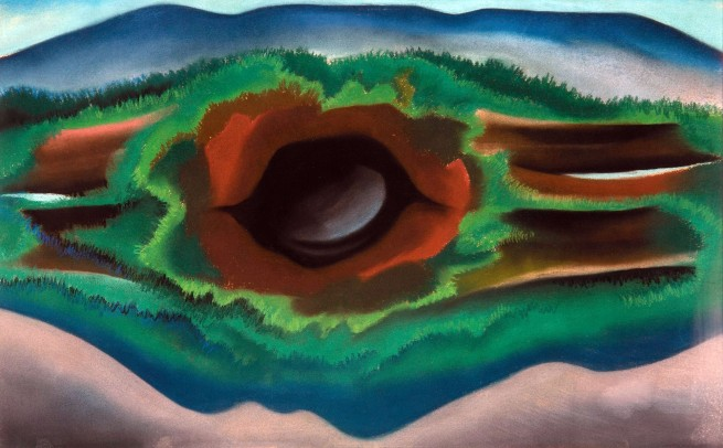 Georgia O'Keeffe (American, 1887-1986) 'Pool in the Woods, Lake George' 1922