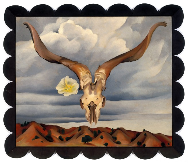 Georgia O'Keeffe (American, 1887-1986) 'Rams Head, White Hollyhock - Hills' (Rams Head and White Hollyhock, New Mexico) 1935