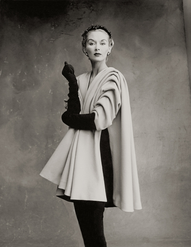 Irving Penn (American, Plainfield, New Jersey 1917-2009 New York) 'Balenciaga Mantle Coat (Lisa Fonssagrives-Penn), Paris' 1950, printed 1988