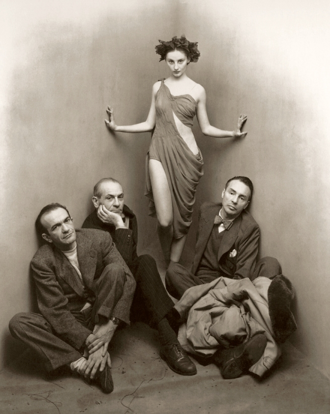 Irving Penn (American, Plainfield, New Jersey 1917-2009 New York) 'Ballet Society, New York [Tanaquil Le Clercq with Corrado Cagli, Vittorio Rieti, and George Balanchine]' March 5, 1948, printed November 1976