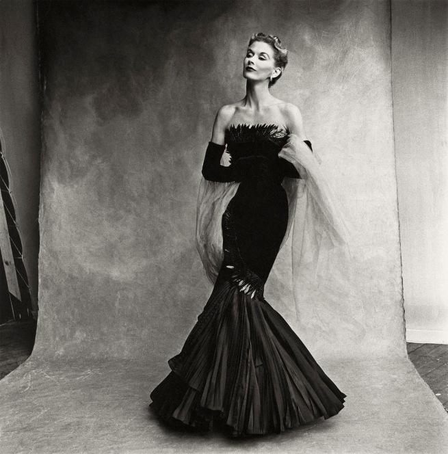 Irving Penn (American, Plainfield, New Jersey 1917-2009 New York) 'Rochas Mermaid Dress (Lisa Fonssagrives-Penn), Paris' 1950