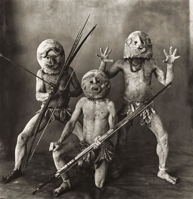 Irving Penn (American, Plainfield, New Jersey 1917-2009 New York) 'Three Asaro Mud Men, New Guinea, 1970' 1970, printed 1976