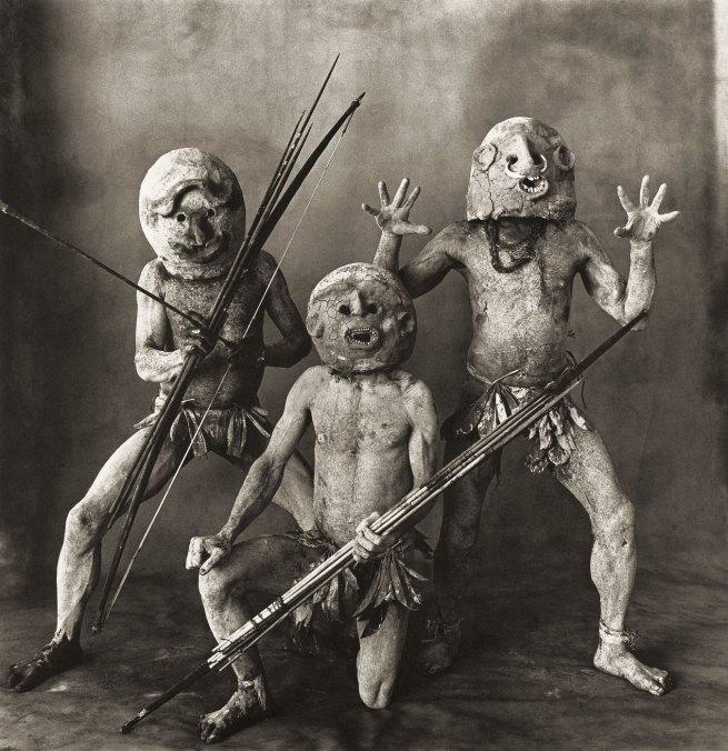 Irving Penn (American, Plainfield, New Jersey 1917-2009 New York) 'Three Asaro Mud Men, New Guinea, 1970' 1970, printed 1976