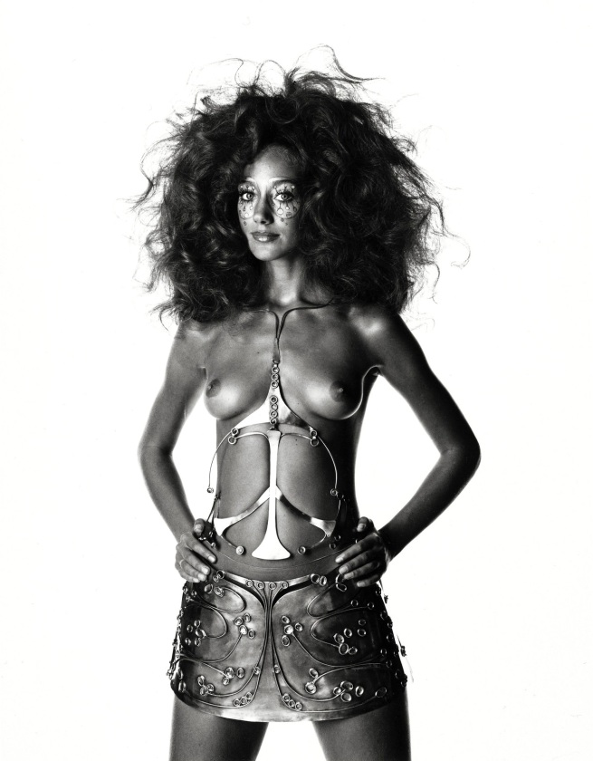 Irving Penn (American, Plainfield, New Jersey 1917-2009 New York) 'Ungaro Bride Body Sculpture (Marisa Berenson), Paris, 1969' 1969, printed 1985