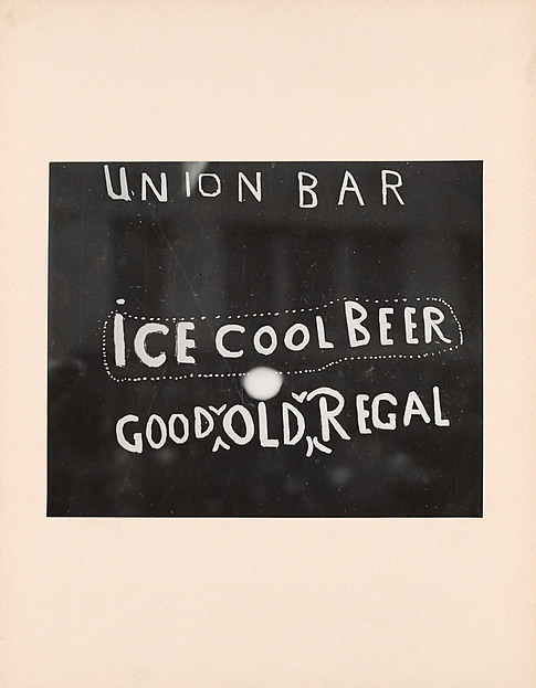 Irving Penn (American, Plainfield, New Jersey 1917-2009 New York) 'Union Bar Window, American South' 1941, printed c. 1941-42