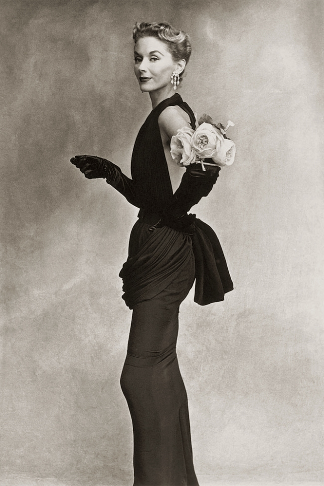Irving Penn (American, Plainfield, New Jersey 1917-2009 New York) 'Woman with Roses (Lisa Fonssagrives-Penn in Lafaurie Dress), Paris' 1950, printed 1968
