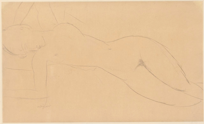 Amedeo Modigliani (born Italy 1884, lived in France 1906-20, died France 1920) 'Nude resting' c. 1916-19