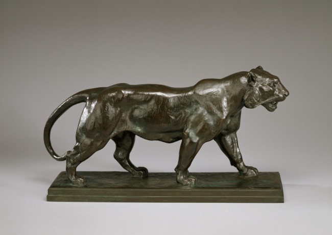 Antoine-Louis Barye (France 1796-1875) 'Walking tiger' c. 1841