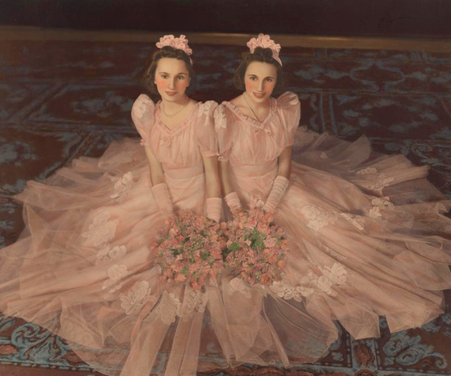 Athol Shmith (Australia 1914-90) 'Misses Mary and Rae Plotkin, bridesmaids at the wedding of Mrs Edith Sheezel' 1940
