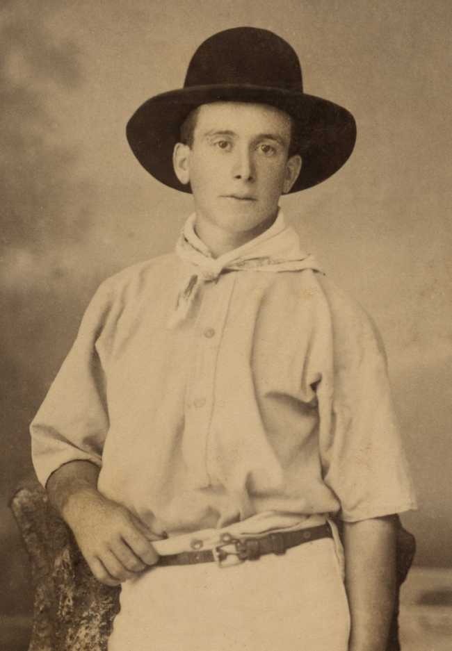 Poul C Poulsen. 'Bushman with a swag'(detail) c. 1885