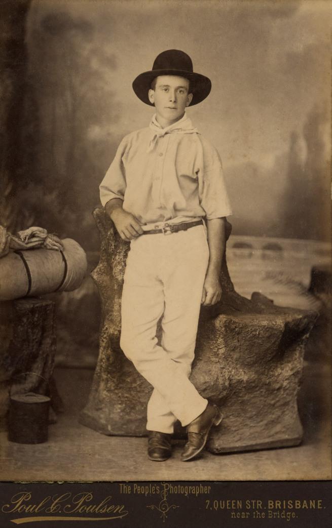 Poul C Poulsen. 'Bushman with a swag' c. 1885