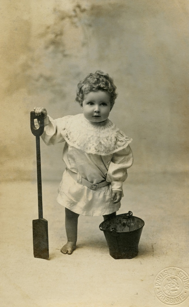 Poulsen Studio. 'Child with bucket and spade' 1920s