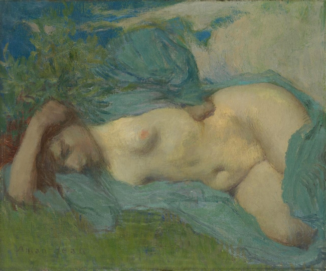 Edmond-François Aman-Jean (France 1860-1936) 'Woman resting' c. 1904