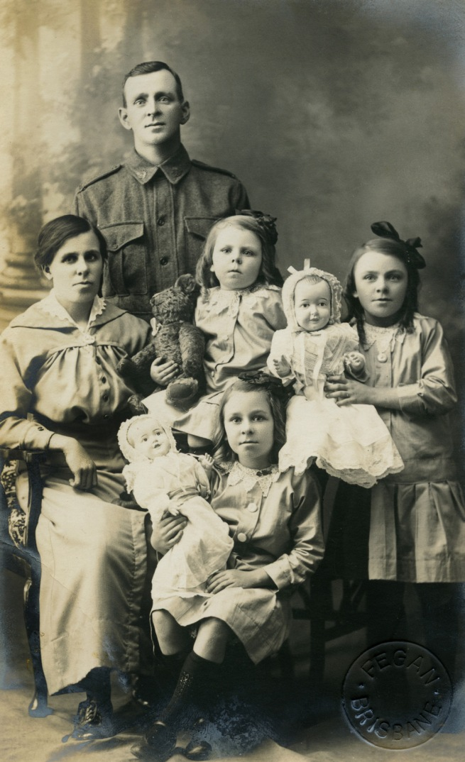 John 'Jack' Fegan. 'Family portrait before the father left for the First World War' 1914-1918