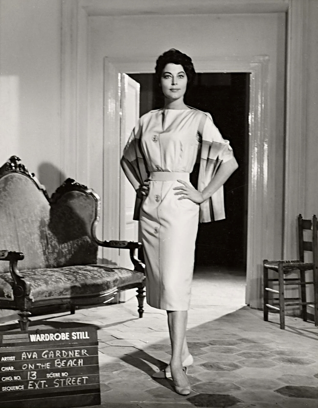 G. B. Poletto (Italy 1915-88) 'No title (Ava Gardner in wardrobe still for On the beach: Street)' 1957