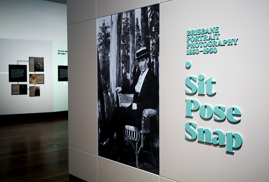 Installation View Of The Exhibition Sit Pose Snap Brisbane Portrait Photography 1850