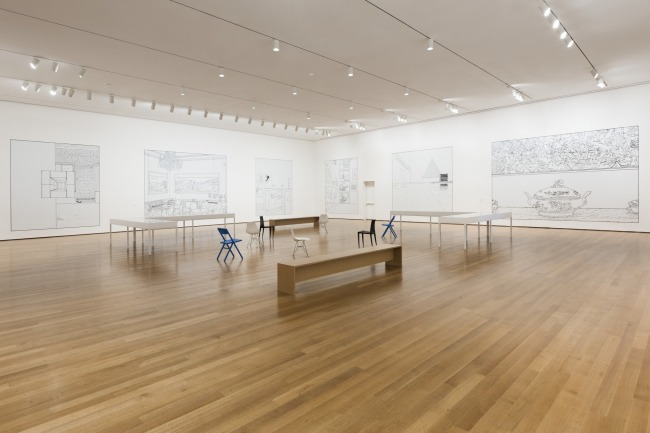 Installation view of 'Louise Lawler: WHY PICTURES NOW' at The Museum of Modern Art