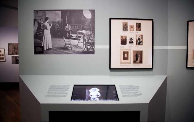 Installation view of the exhibition 'Sit. Pose. Snap. Brisbane Portrait Photography 1850 - 1950' at the Museum of Brisbane