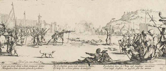 Jacques Callot (France 1592-1635) 'The firing squad' 1633