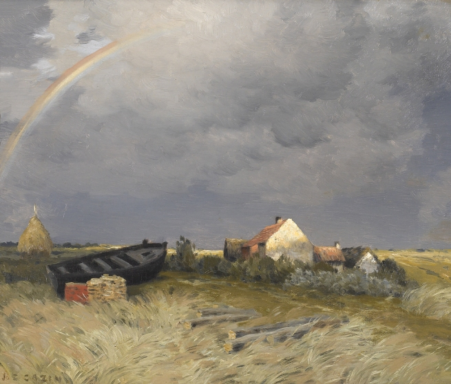 Jean Charles Cazin (France 1841-1901, lived in England 1871-75) 'The rainbow' late 1880s