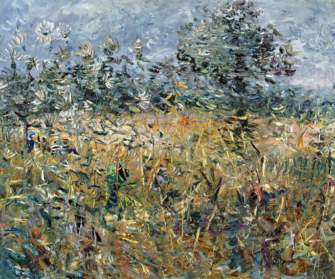 John Perceval (Australia 1923-2000) 'Lover's walk in the corn, summer, England' 1964