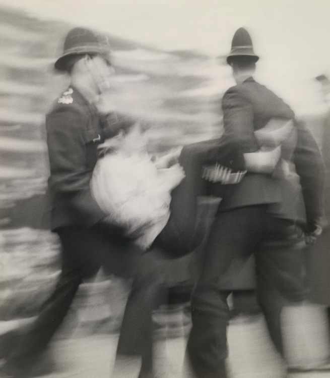 Kerry Dundas (born Australia 1931, lived in Europe 1958-67) 'A girl is carried away under arrest' 1961-63