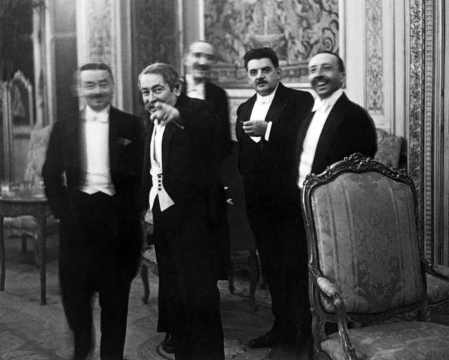Erich Salomon (Germany 1886-1944) 'Banquet at the Quai d'Orsay, Paris, August 1931. 'A le voilà, le roi des indiscrets!'' 1931, printed 1970