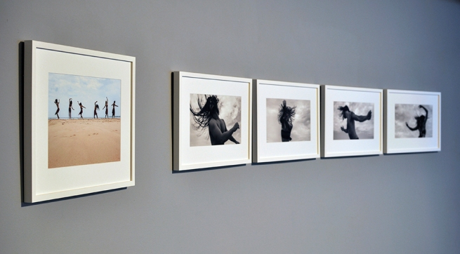 Installation view of the exhibition 'Under the sun Reimagining Max Dupain's 'Sunbaker'' at Monash Gallery of Art, Melbourne