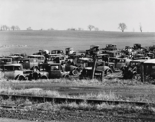 Walker Evans (United States 1903-75) 'Auto dump, near Easton, Pennsylvania' 1935, printed c. 1975