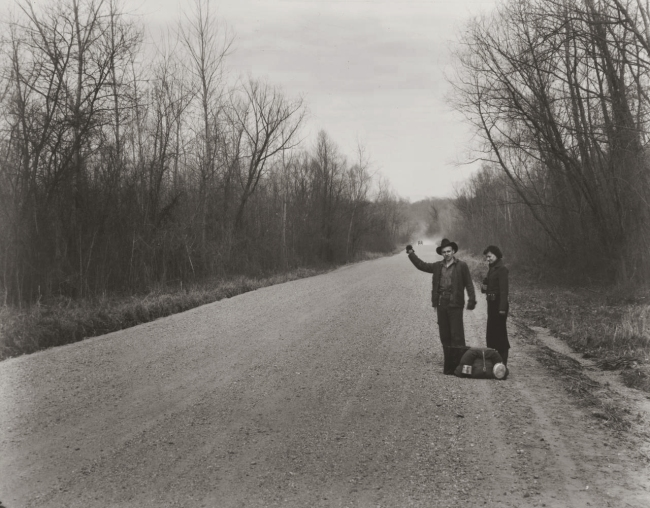 Walker Evans (United States 1903-75) 'Hitchhikers, near Vicksburg, Mississippi' 1936, printed c. 1975