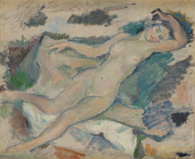 William Frater (born Scotland 1890, arrived Australia 1913, died 1974) 'The blue nude' c. 1934
