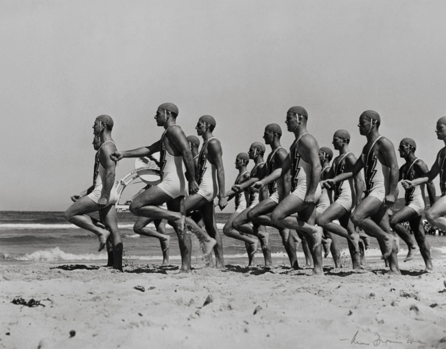 Max Dupain (Australia 1911-92) 'The carnival at Bondi' 1938