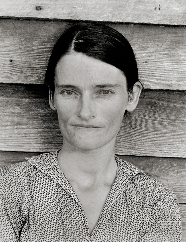 Walker Evans (1903-1975) 'Allie Mae Burroughs, Wife of a Cotton Sharecropper, Hale Country, Alabama' 1936