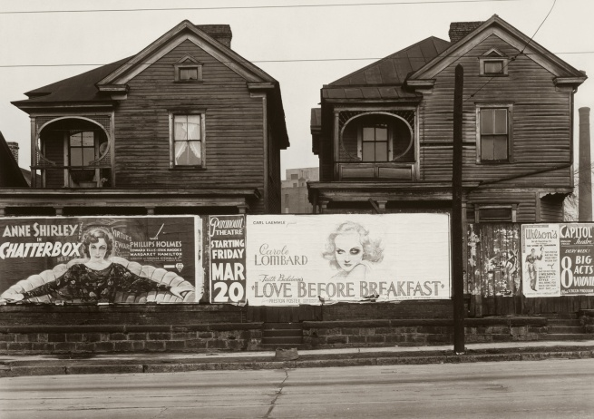 Walker Evans (1903-1975) 'Houses and Billboards in Atlanta' 1936