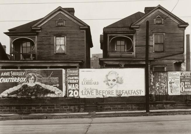 Walker Evans (1903-1975) 'Houses and Billboards in Atlanta' 1936