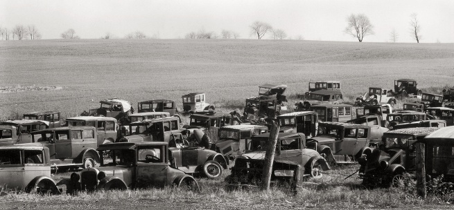 Walker Evans (1903-1975) 'Joe's Auto Graveyard' 1936