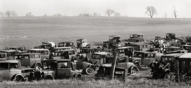 Walker Evans (1903-1975) 'Joe's Auto Graveyard' 1936