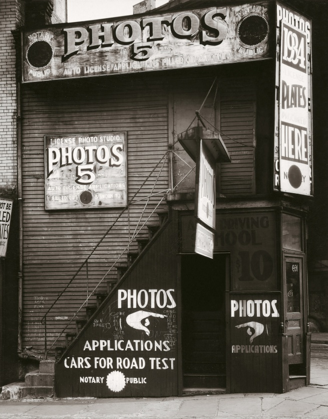 Walker Evans (1903-1975) 'License Photo Studio, New York' 1934
